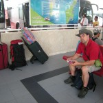 Waiting for the bus to Tulum